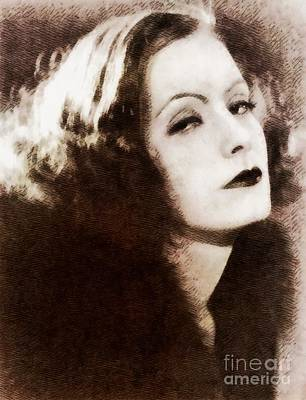Musicians Royalty Free Images - Greta Garbo, Vintage Actress by John Springfield Royalty-Free Image by Esoterica Art Agency