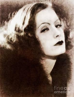 Greta Garbo Painting - Greta Garbo, Vintage Actress By John Springfield by John Springfield