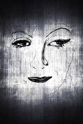 Greta Garbo Painting - Greta by Richard Rabassa