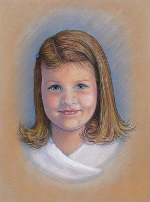 Toddler Portrait Painting - Greta by Tanja Ware