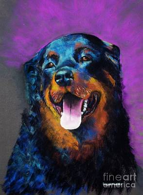 Rottweiler Wall Art - Painting - Gretchen by Frances Marino