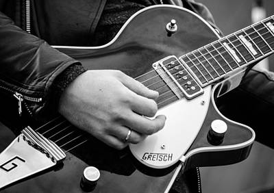 Photograph - Gretsch Guitar During A Concert by Andrea Mazzocchetti
