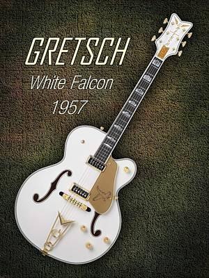 Gretsch Photograph - Gretsch  White Falcon 1957 by Shavit Mason