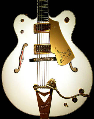Photograph - Gretsch White Falcon by Lourry Legarde