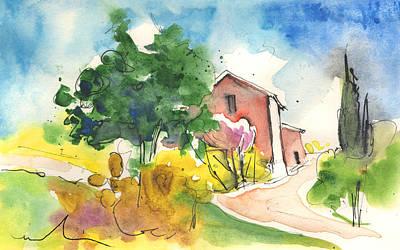 Greve In Chianti Painting - Greve In Chianti In Italy 01 by Miki De Goodaboom