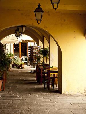 Greve In Chianti Photograph - Greve In Chianti Portico by Rae Tucker
