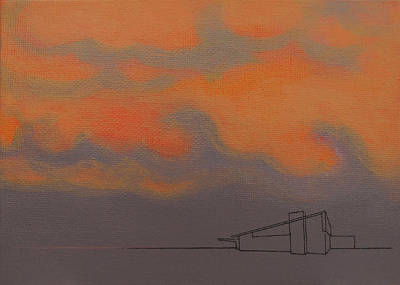 Painting - Grey Alexander Orange Sky by Stan  Magnan