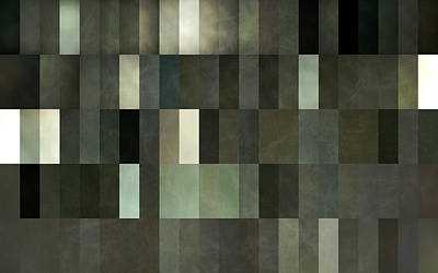 Quilt Collage Photograph - Grey And Gray by Michelle Calkins