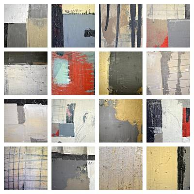 Painting - Grey And Red Study 16 by Michelle Calkins