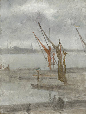 Whistler Painting - Grey And Silver - Chelsea Wharf by James Abbott McNeill Whistler