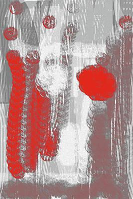 Digital Art - Grey And Terracota Abstract by Keshava Shukla