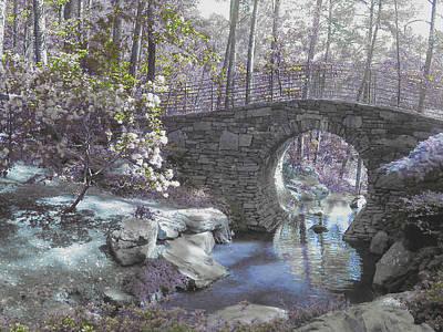 Photograph - Grey And White Bridge by Anne Cameron Cutri