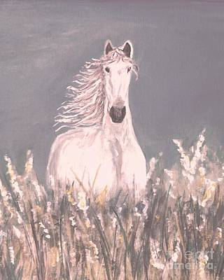 Painting - Grey And White by Leslie Allen