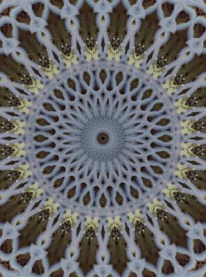 Photograph - Grey And Yellow Mandala by Jaroslaw Blaminsky