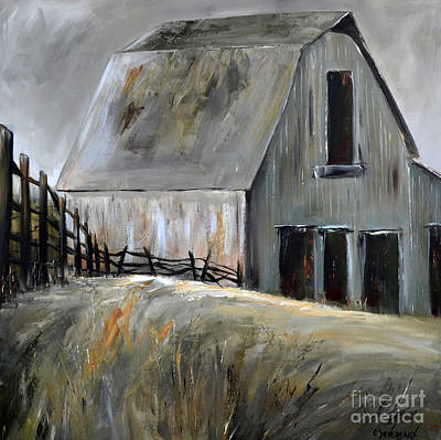 Painting - Grey Barn by Cher Devereaux