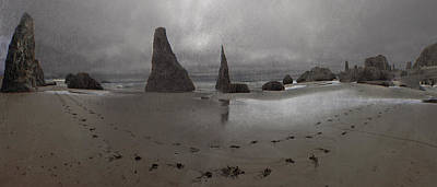 Photograph - Grey Beach Panorama by Adria Trail