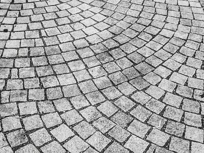 Photograph - Grey Cobbles by Helen Northcott