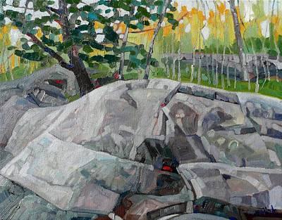 Grey Day Oak  Original by Phil Chadwick