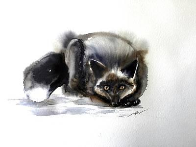 Grey Fox 1 Art Print