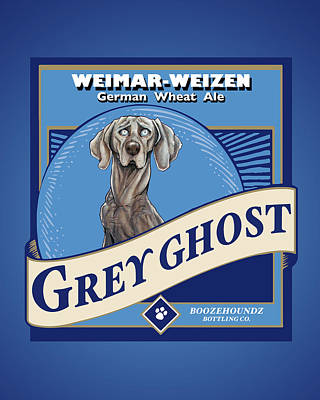 Drawing - Grey Ghost Weimar-weizen Wheat Ale by John LaFree