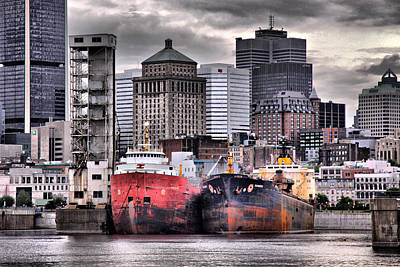 Montreal City Scapes Photograph - Grey Haven by Russell Styles