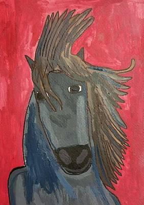Grey Horse Original by Artists With Autism Inc