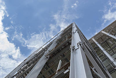 Photograph - Grey Metal Structure And Blue Sky by John Williams