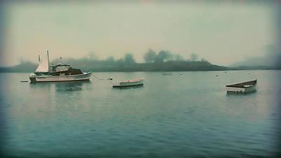 Photograph - Grey Misting Fog Over Little Harbor by Jeff Folger