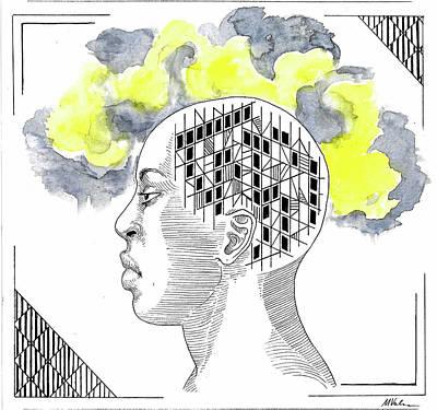 Depression Mixed Media - Grey Moods by Maria Volkova