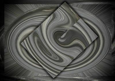 Digital Art - Grey On Grey by Cathy Harper