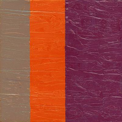 Painting - Grey Orange Purple by Michelle Calkins
