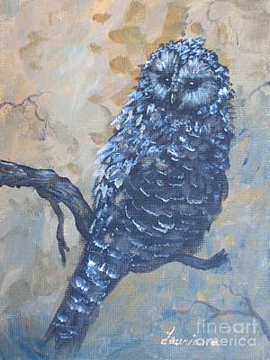 Painting - Grey Owl1 by Laurianna Taylor