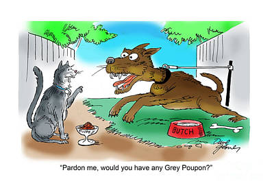 Dogs Drawing - Grey Poupon by David Lloyd Glover