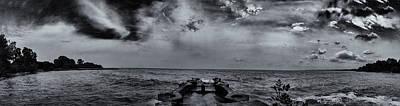 Photograph - Grey Sun by CJ Schmit