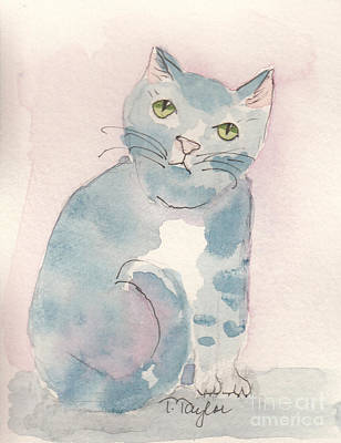 Painting - Grey Tabby by Terry Taylor