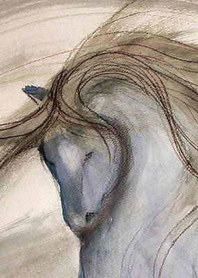Sporthorse Mixed Media - Grey Thinker by Jennifer Fosgate