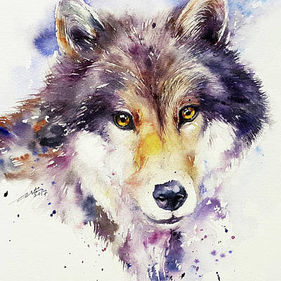 Painting - Grey Wolf by Arti Chauhan