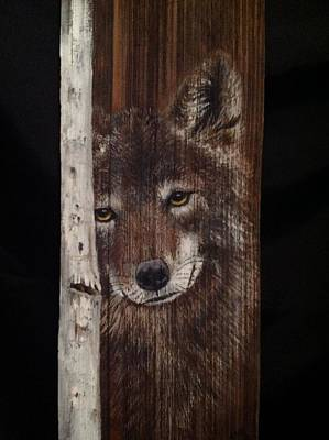 Mixed Media - Grey Wolf by Barbara Prestridge