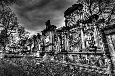 Photograph - Greyfriars Kirk Cemetery Edinburgh by David Pyatt