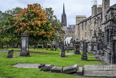 Photograph - Greyfriars Kirkyard 1562  by Amy Fearn