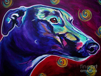 Rescued Greyhound Painting - Greyhound -  by Alicia VanNoy Call