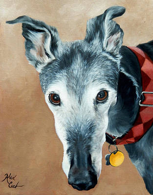 Rescued Greyhound Painting - Greyhound by Alexandra Cech