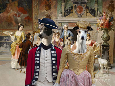 Painting - Greyhound Art Canvas Print - The Artist Class by Sandra Sij