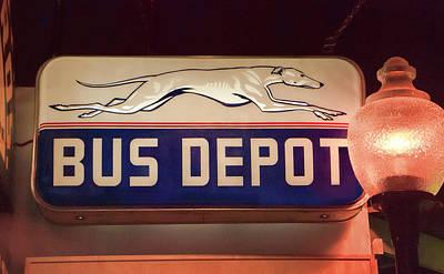 Greyhound Photograph - Greyhound Bus Depot by Phyllis Taylor