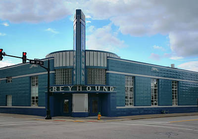 Photograph - Greyhound Bus Terminal - Retro - Americana by Greg Jackson