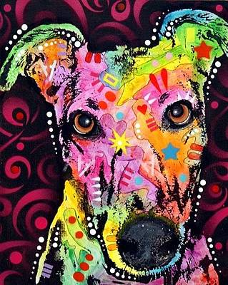 Greyhounds Mixed Media - Greyhound by Dean Russo