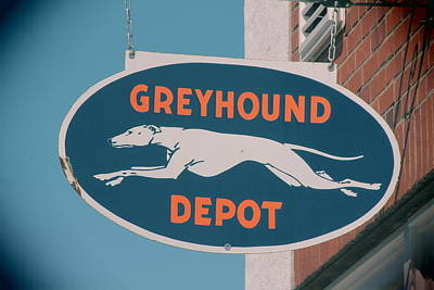 Photograph - Greyhound Depot Sign by Joseph C Hinson Photography