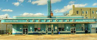 Photograph - Greyhound Halfway House Jackson Tennessee by Douglas Barnett