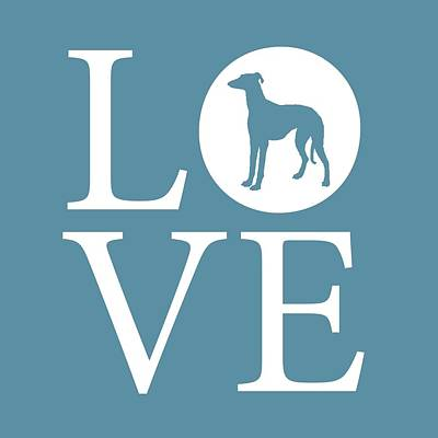 Greyhound Love Art Print by Nancy Ingersoll