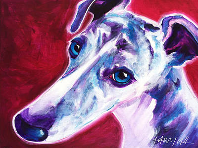 Greyhound - Myrtle Print by Alicia VanNoy Call